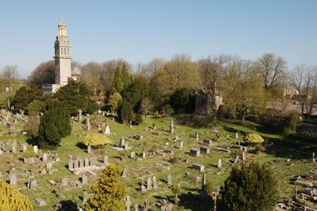 Beckford Tower and cemetery