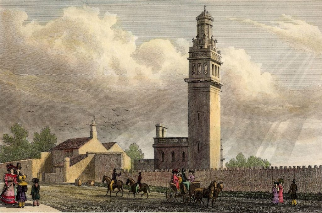 Tower engraving unknown 19th cent