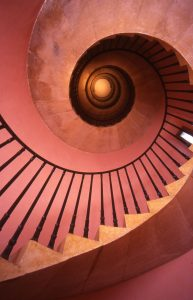Staircase at Beckford's Tower, Bath - courtesy of Beckford's Tower & Museum